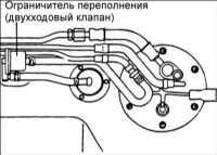 6.9 Замена ограничителя переполнения (двухходового клапана)