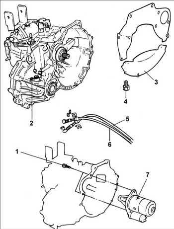 9.1.6 Снятие и установка коробки передач Hyundai Accent