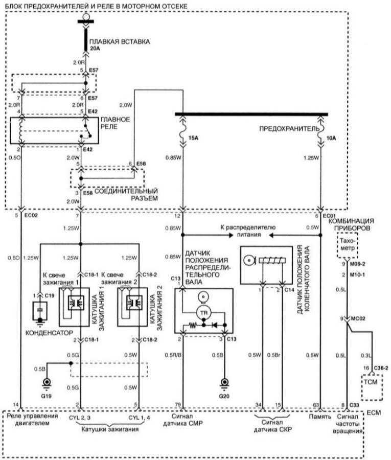 hyundai avante электросхема
