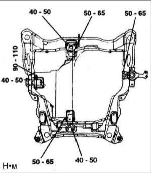 12.27 Снятие и установка коробки передач A4AF3