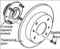 13.6 Задняя ось/ступица заднего колеса Hyundai Elantra