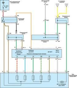 9.3 Схема системы управления АКПП (2,4л) (часть 3) Hyundai Santa Fe