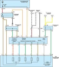 9.6 Схема системы управления АКПП (2,7л) (часть 3)