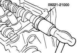2.6.6 Разборка, проверка и сборка распределительных валов Hyundai Santa Fe