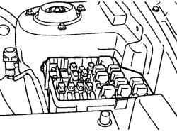 2.7.6 Снятие, проверка и установка электродвигателя вентилятора радиатора Hyundai Santa Fe