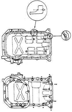 2.8.2 Снятие, проверка и установка масляного насоса и масляного поддона Hyundai Santa Fe