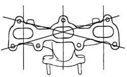 2.8.3 Снятие, проверка и установка выпускного коллектора и трубы системы выпуска Hyundai Santa Fe
