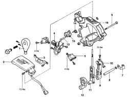 3.3.11 Механизм управления автоматической коробкой передач