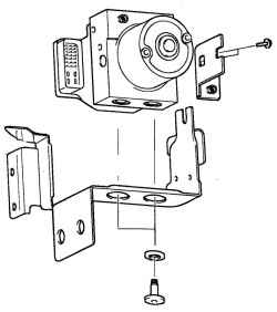 6.1.14 Снятие и установка электронного блока управления ABS