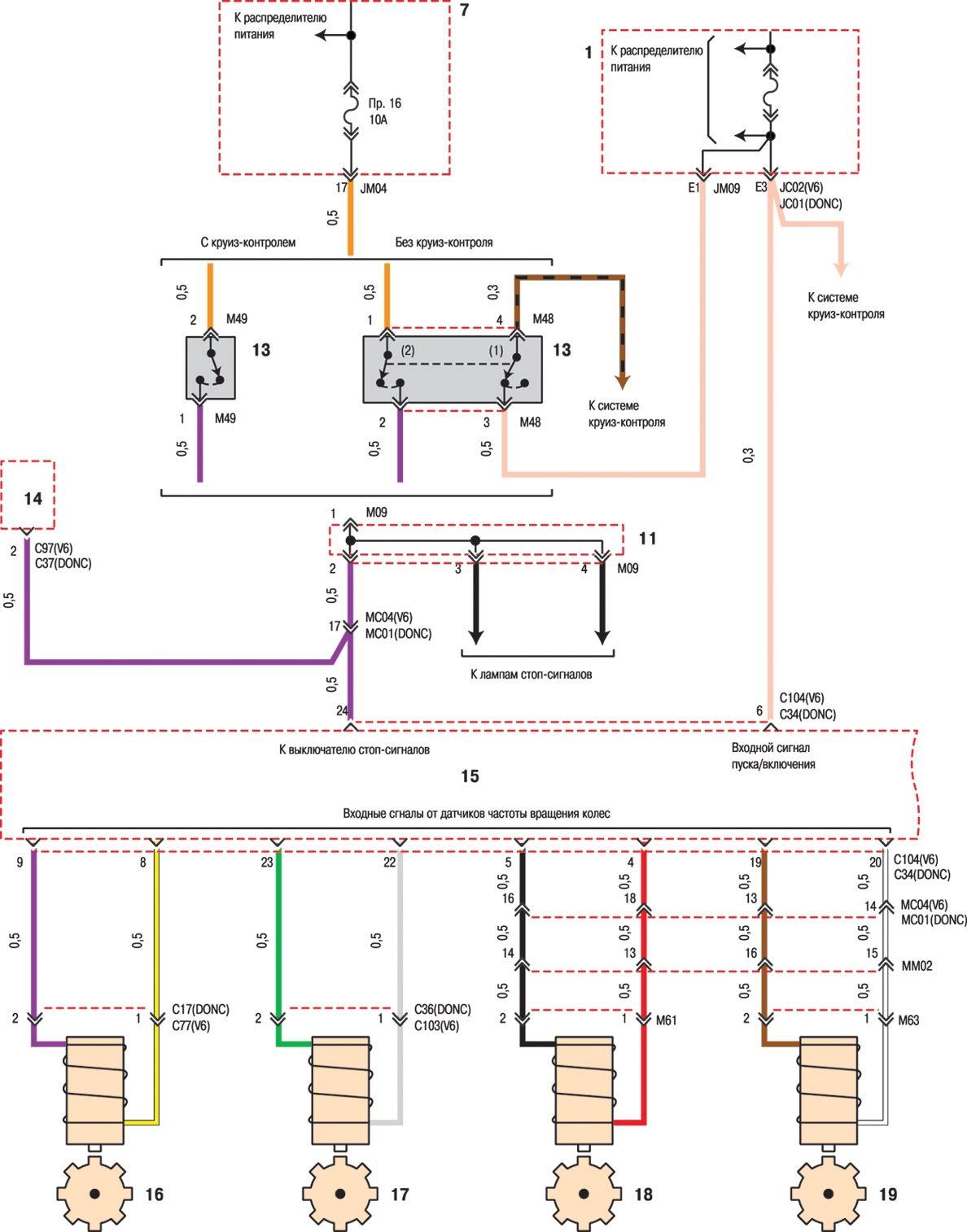 Схема электрическая хундай соната