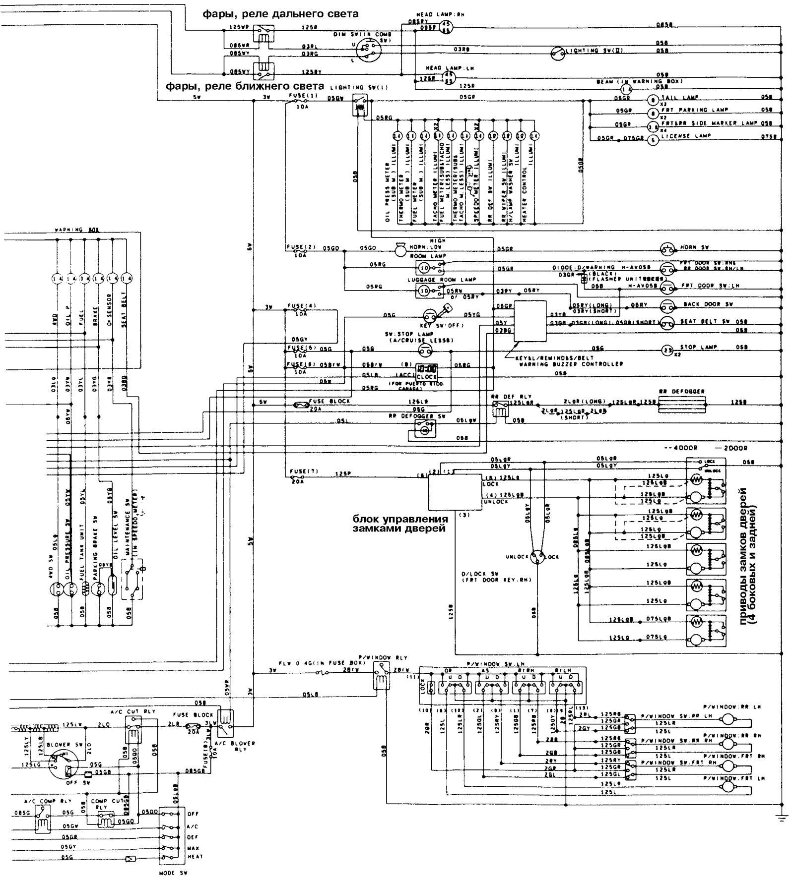 Isuzu генератор схемы