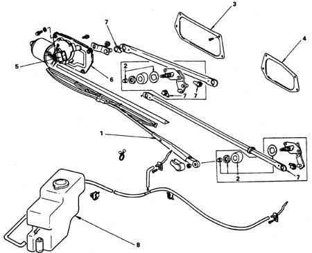 10.3 Электродвигатель стеклоочистителя ветрового стекла, тяги привода щеток