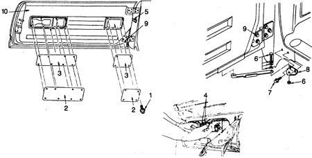 9.2 Задняя крышка (крышка грузового отсека или люка)