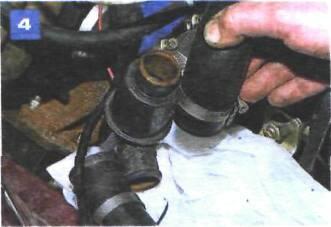 Снятие и проверка термостата на автомобиле с двигателем ВАЗ-2106