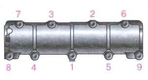Снятие распределительного вала и рычагов привода клапанов