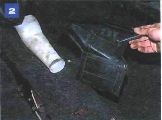 Снятие воздуховода подачи воздуха в заднюю часть салона
