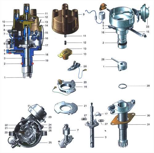 7.0 Система зажигания двигателя УМПО-331