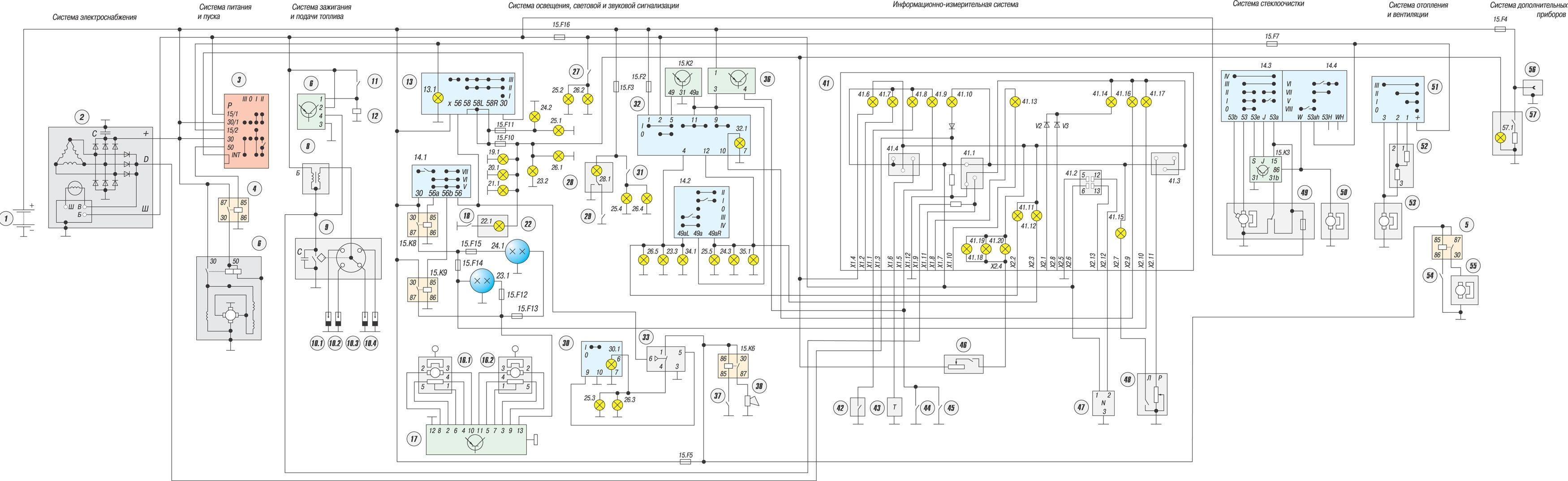 Схема электрооборудования иж 27175 инжектор 174