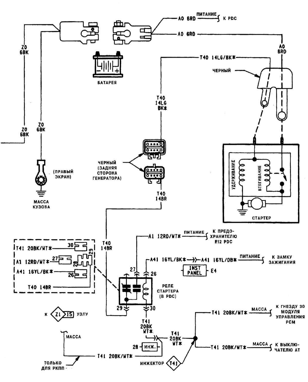 принципиальная схема субару импреза 96 год