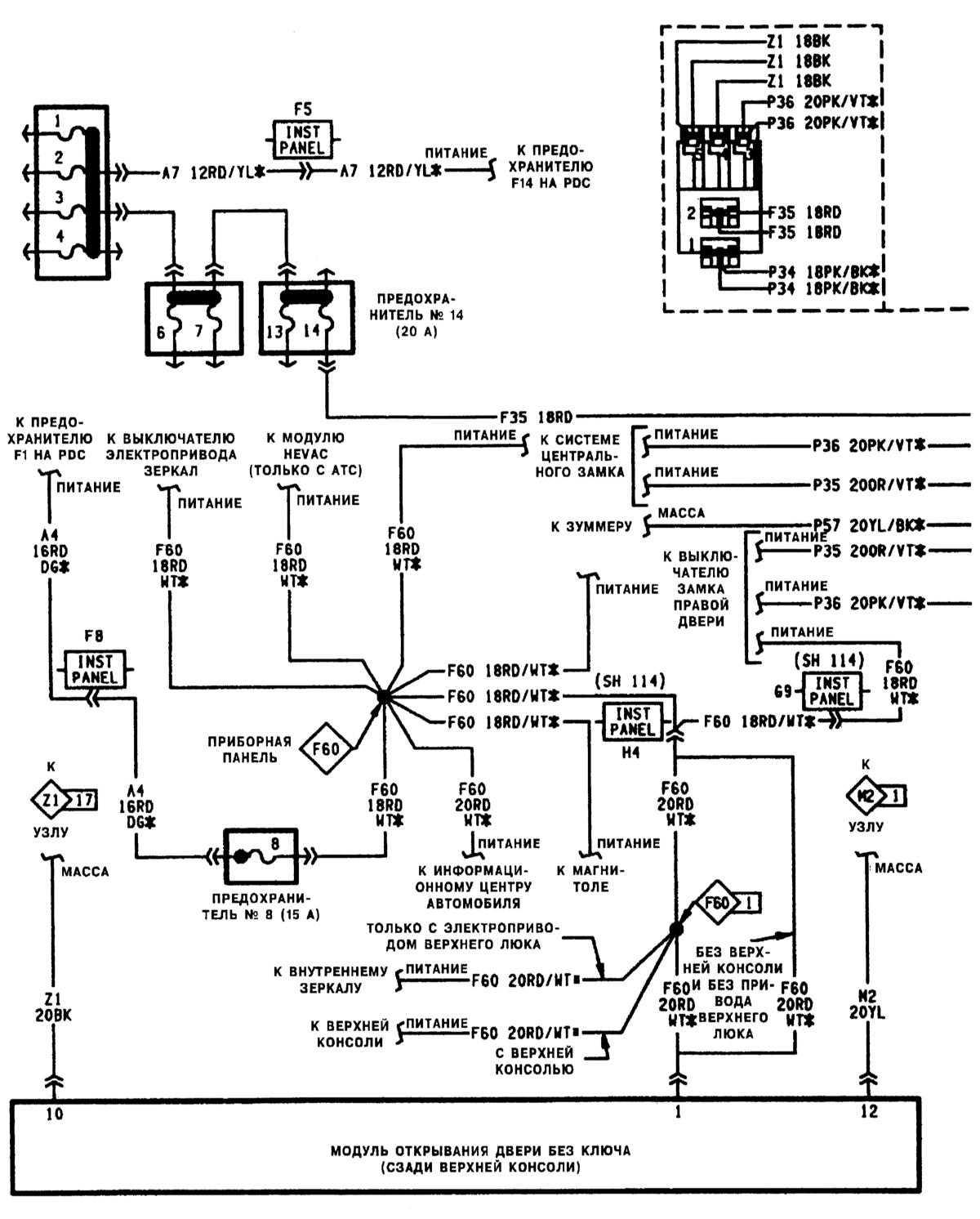 схема центрального замка рено 21