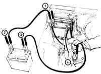 1.8 Запуск двигателя от вспомогательного источника питания