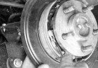 14.16 Замена башмаков стояночного тормоза (дисковые тормозные механизмы задних колес) Jeep Grand Cherokee