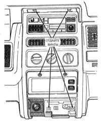 16.24 Снятие и установка облицовок приборной доски