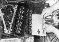 4.5 Снятие, проверка состояния и установка коромысел и штанг толкателей