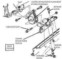 4.17 Проверка состояния и замена резиновых подушек опор двигателя