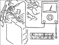 11.18 Проверка сопротивления датчика скорости (выходного)