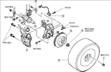 12.2 Поворотный кулак и ступица переднего колеса