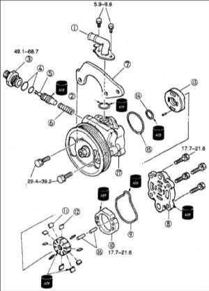13.10 Разборка и сборка насоса усилителя рулевого управления (FE DOHC) Kia Clarus