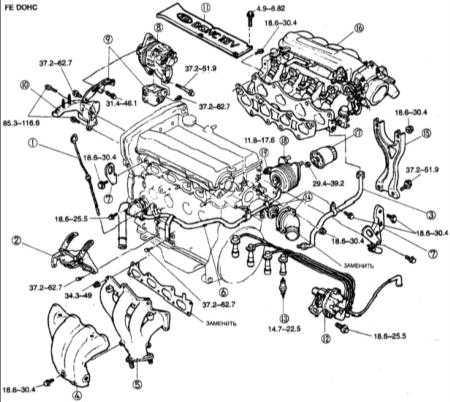 2.14 Снятие и установка с двигателя вспомогательных элементов