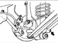 10.8 Замена поддерживающего рычага задней подвески