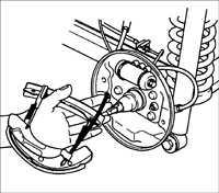 13.10 Замена тормозных колодок на задних барабанных тормозах Kia Rio