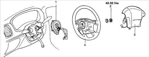 16.29 Подушка безопасности водителя и спиральный провод