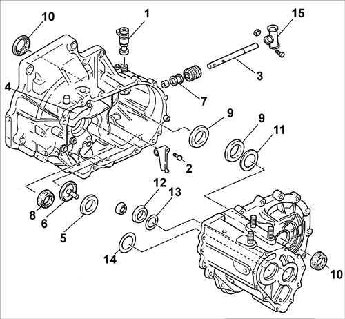 8.1.7 Картер сцепления и компоненты картера коробки передач