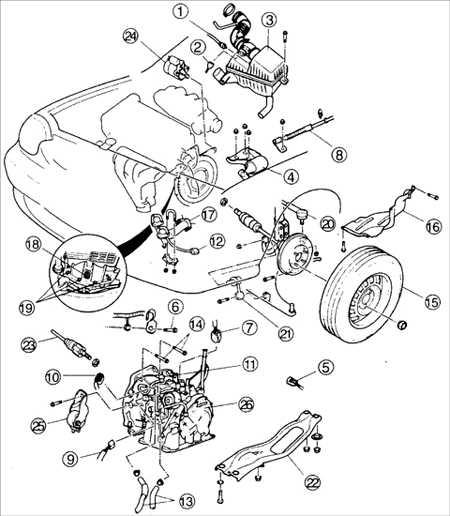 10.8 Снятие и установка автоматической коробки передач