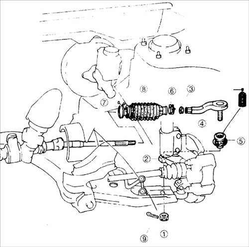 12.5 Замена защитного чехла рулевой тяги