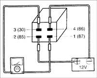 17.2 Проверка реле компрессора кондиционера Kia Sephia