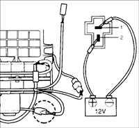17.6 Проверка двигателя вентилятора Kia Sephia