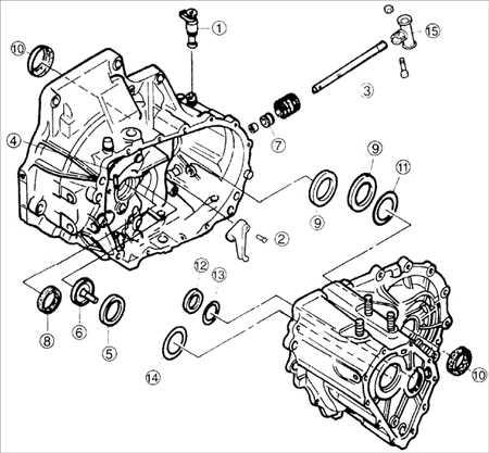9.9 Картер сцепления и компоненты картера коробки передач BF DOHC