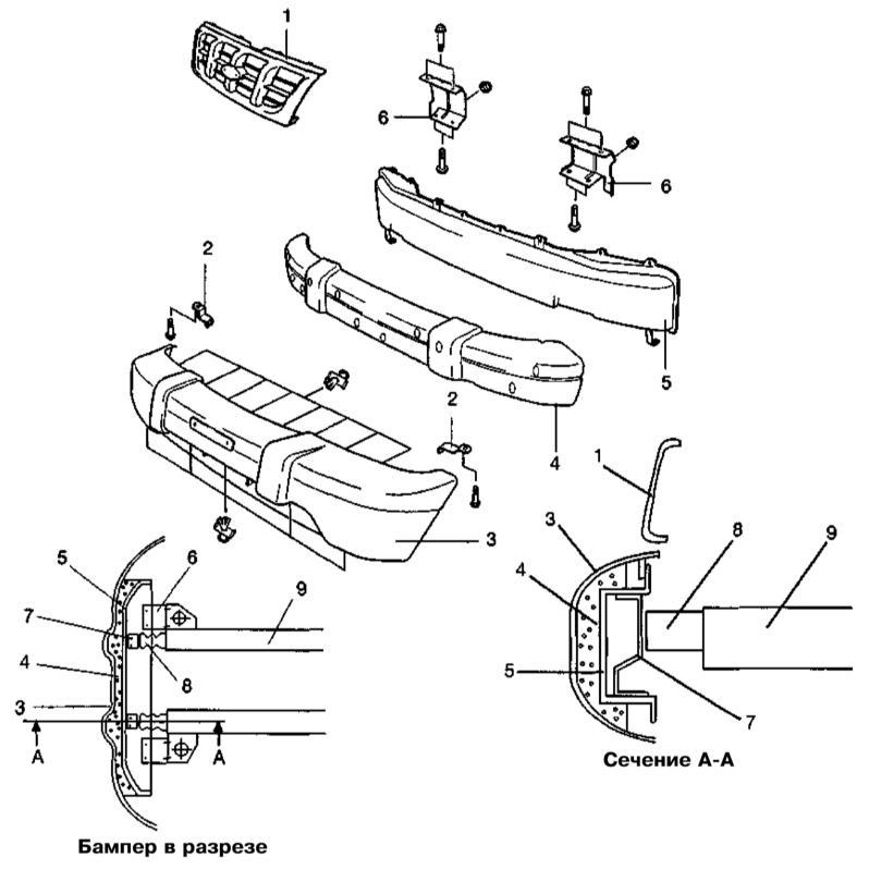 Как снять передний бампер киа спортейдж