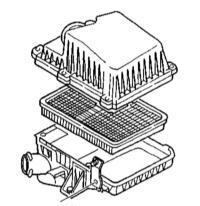 2.14 Замена фильтрующего элемента воздухоочистителя