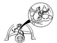 10.17 Снятие, проверка установка колесных датчиков ABS