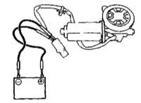 13.10 Проверка исправности функционирования управляющих переключателей и электромоторов привода стеклоподъемников