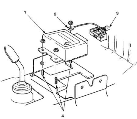 13.21 Снятие и установка диагностического модуля подушек безопасности (ADU)