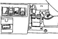 13.14 Снятие, проверка исправности функционирования и установка прерывателя указателей поворотов/аварийной сигнализации