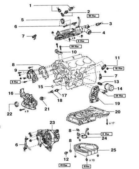4.9 Блок цилиндров Lexus RX300