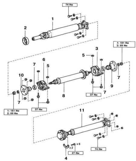 9.2 Снятие и установка карданного вала